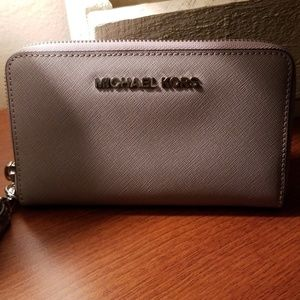 Gray Michael Kors Wallet